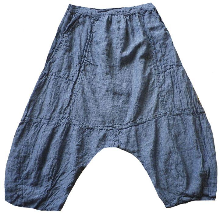 Magnolia Pearl: Blue chambray linen Klarah Pants