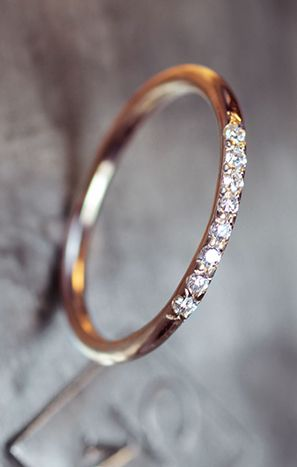 Thin pave diamond band http://www.charleskoll.com/getting-started/