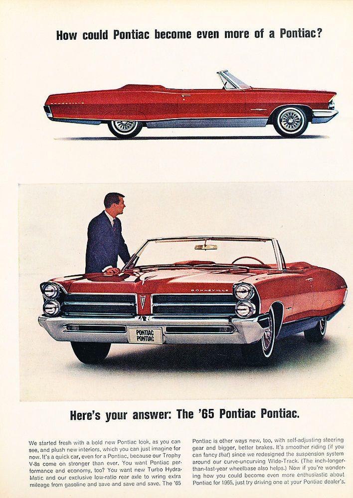 1965 Pontiac Bonneville Convertible Original Car