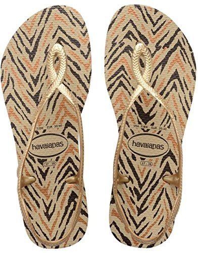 Havaianas Slim Luna Animals Sand Grey/New Gold Flip Flop  Price From: $18.07  https://www.flopstore.com/com_english/women/havaianas-slim-luna-animals-sand-grey-new-gold-flip-flop.html
