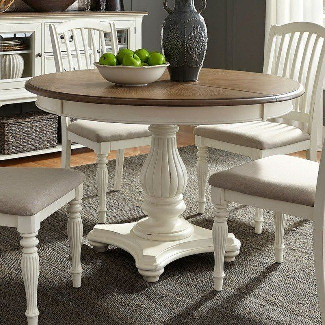 Cumberland Creek Round Dining Table Farmhouse Dining Room Table