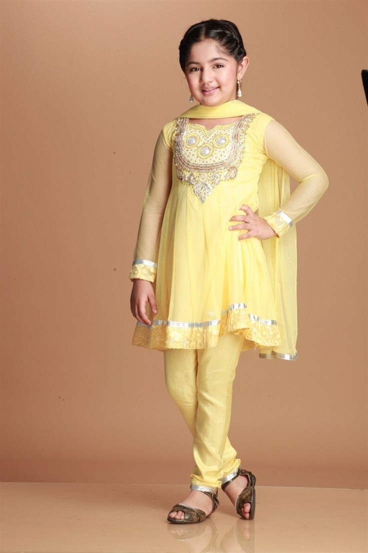 Soft net kalidar kurta lined with polycrepe. Handwork neckline with zircon, crystals and moti, back with zipper and soft nett sleeves. Churidar and nett dupatta