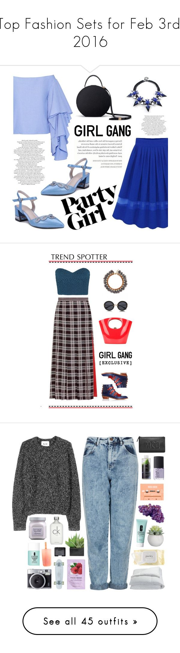 """""""Top Fashion Sets for Feb 3rd, 2016"""" by polyvore ❤ liked on Polyvore featuring Rosie Assoulin, women's clothing, women, female, woman, misses, juniors, contestentry, galentinesday and Mother of Pearl"""