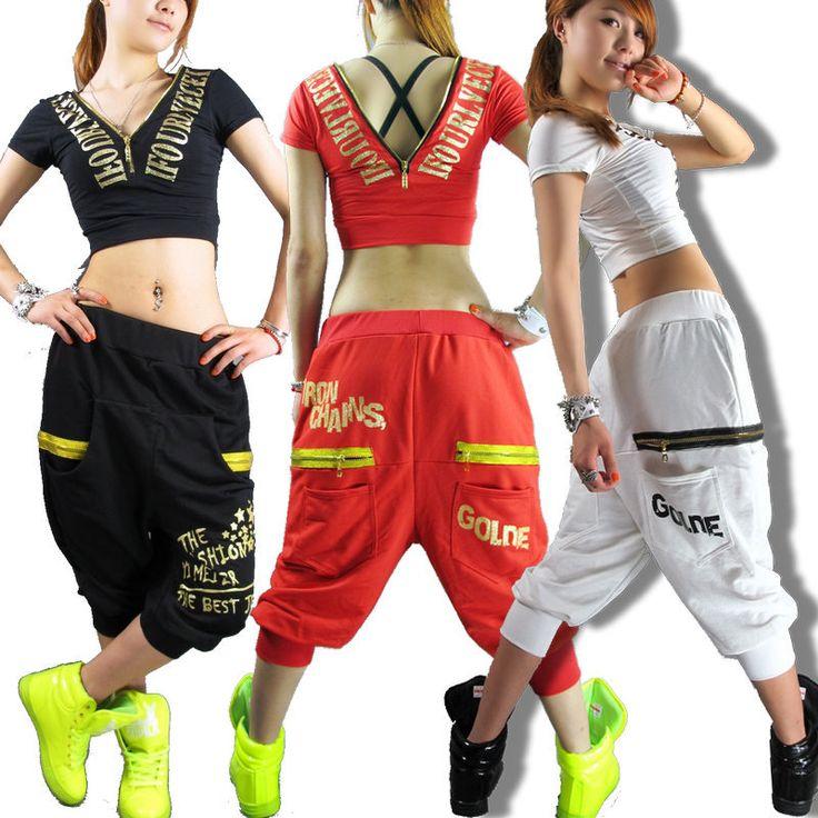 New fashion Women Hip hop pants dance wear sweatpants ds costume loose casual female sports pants harem trousers $29.26