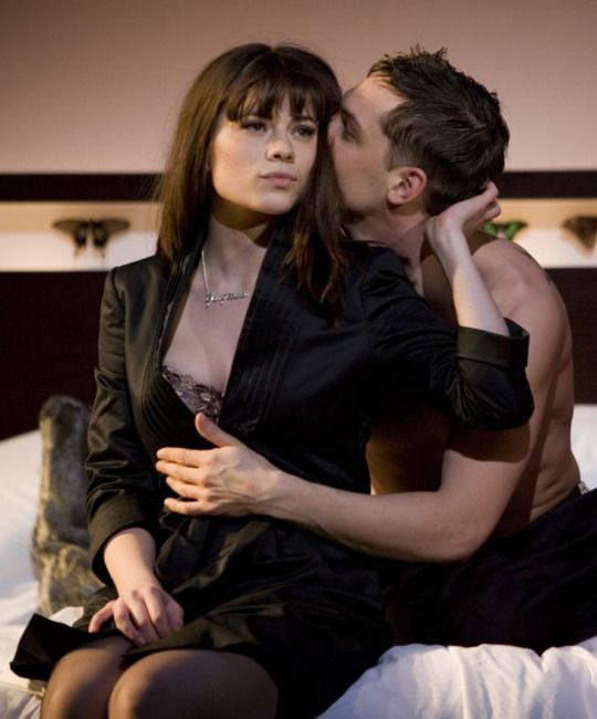 Hayley Atwell and Tom Hardy on stage