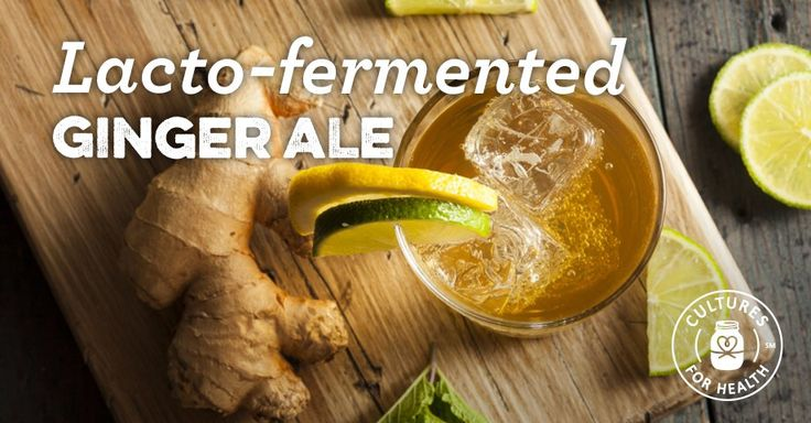 Lacto-Fermented Ginger Ale - use whey from yogurt after first two weeks if not whey/dairy reactive. Use allowed sugar.