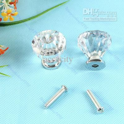 Wholesale Clear Crystal Knob Cabinet Pull Handle Drawer Kitchen Door Wardrobe Hardware, Free shipping, $1.09/Piece | DHgate