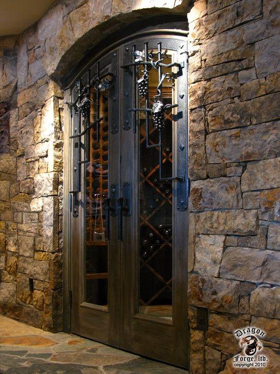 Wrought Iron Wine Cellar Doors Wine Cellar Wine