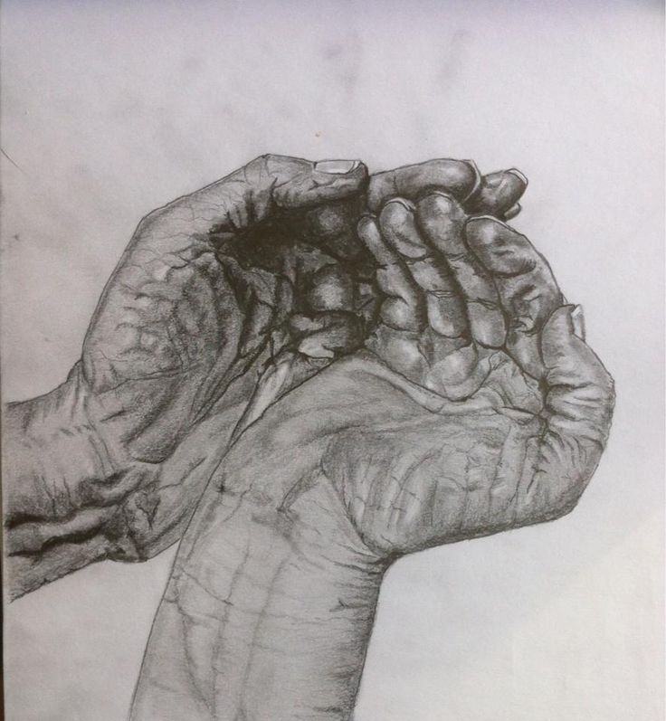 Pencil drawing hands www.inesreder.com
