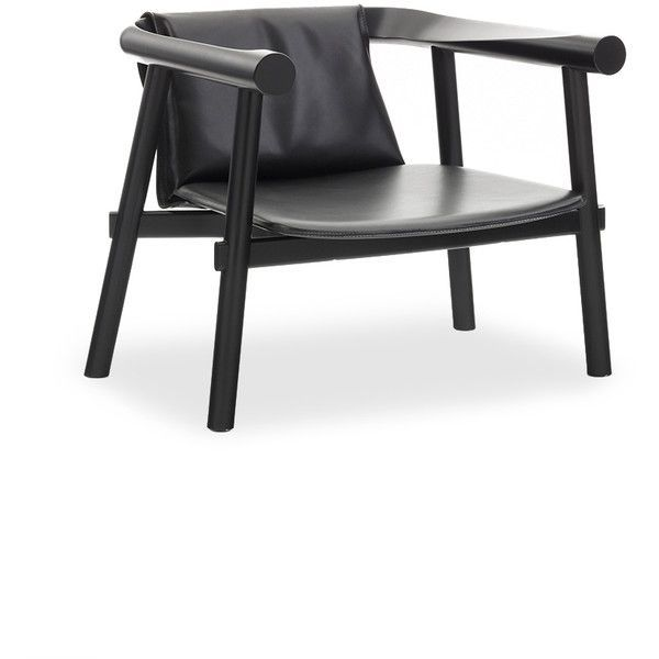 Coedition Altay armchair - Full grain leather (136,775 PHP) ❤ liked on Polyvore featuring home, furniture, chairs, accent chairs, furniturechairs, black arm chair, black armchair, lacquer furniture, black furniture and black chair #ArmChair