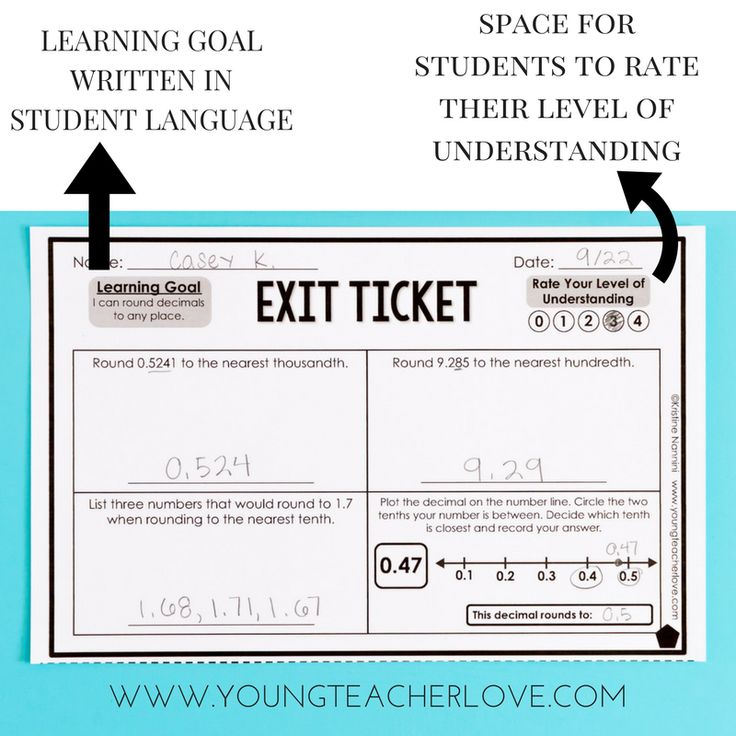 Differentiated Exit Tickets by Kristine Nannini
