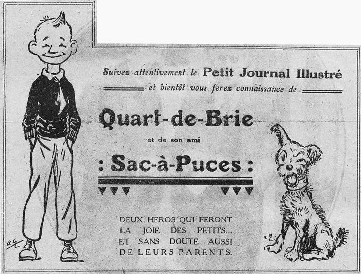 Quart-de-Brie et Sac-à-Puces = Un petit reporter à houpette et pantalon de golf et son compagnon canidé