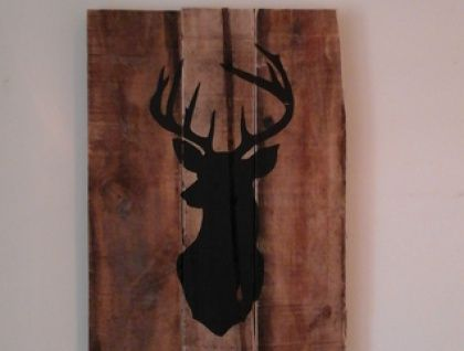 Upcycled Pallet Wall Art - Stag head