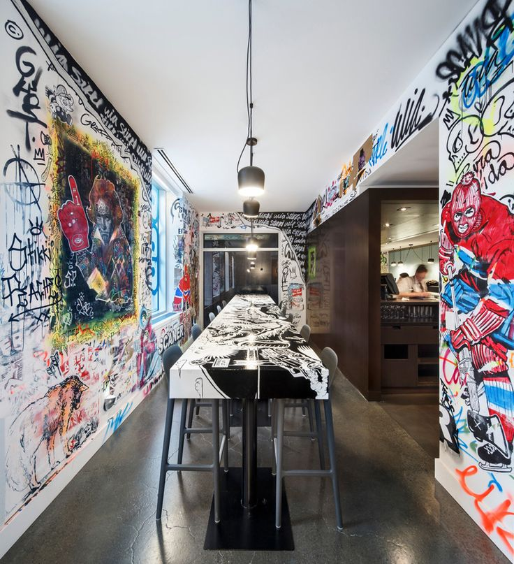 The Walls Of This Restaurant In Montreal Are Purposely Covered In Graffiti