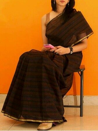 Brown elegant saree