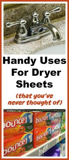 Handy Uses For Dryer Sheets That You've Never Thought Of! | dryer sheets, how to use dryer sheets, unique uses for dryer sheets, cleaning hacks, cleaning tips, repurpose