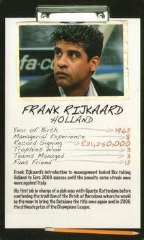 2006 Top Trumps Limited Editions Football Managers #NNO Frank Rijkaard Front