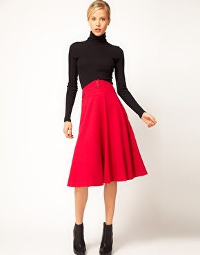 Enlarge ASOS Midi Skirt With Waist Detail