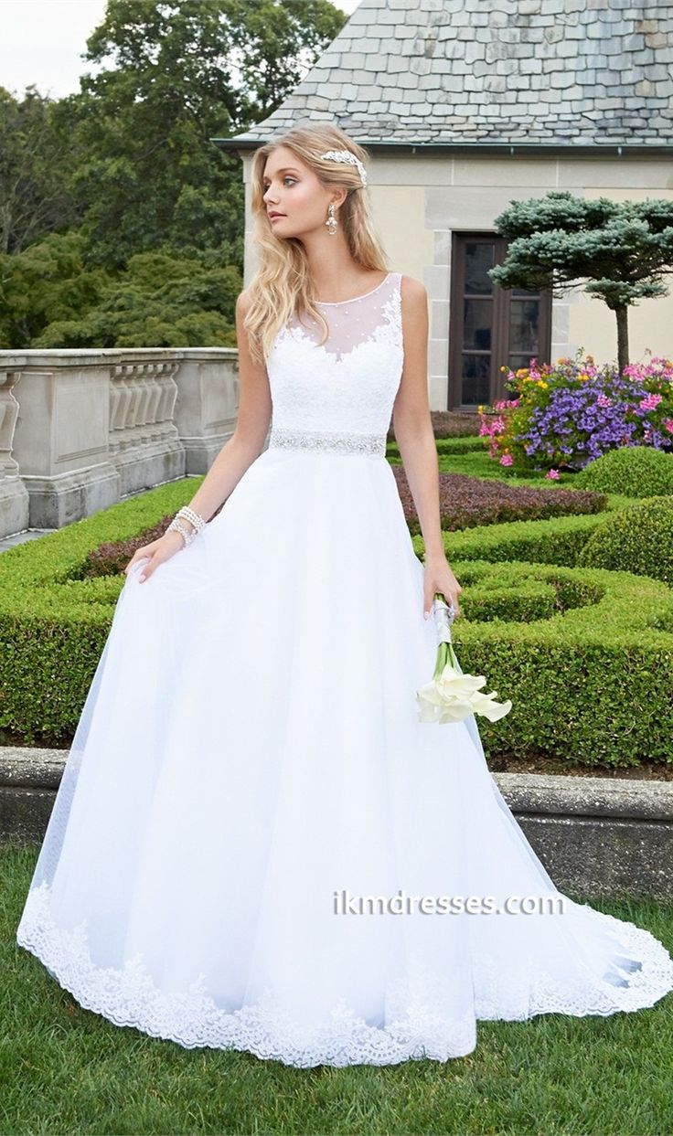 http://www.ikmdresses.com/Lace-Applique-Tulle-Wedding-Dress-p87590