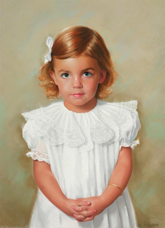 My sweet Lottie by amazing portrait artist Sally Gates