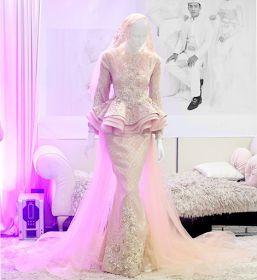 baju kahwin pink