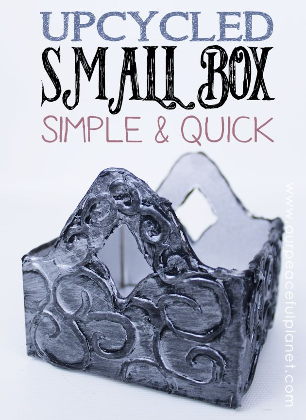 We'll show you how to turn a small cardboard box into a beautiful upcycled Celtic style container! All you need is some a hot glue gun and a little paint.