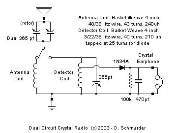 Crystal Radio #23 Schematic   Electronic wiz   Crystals ... on