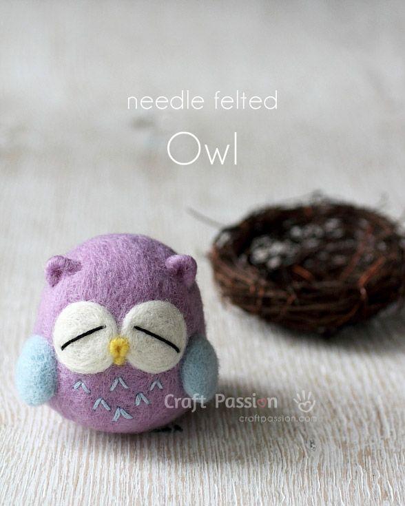 DIY Needle Felted Owl Step-by-Step Tutorial