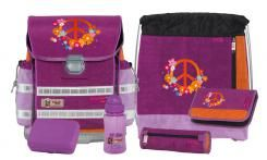 McNeill Angebot  Schulranzen-Set Ergo Light 912 6tlg. Chip Peace Flowerpower