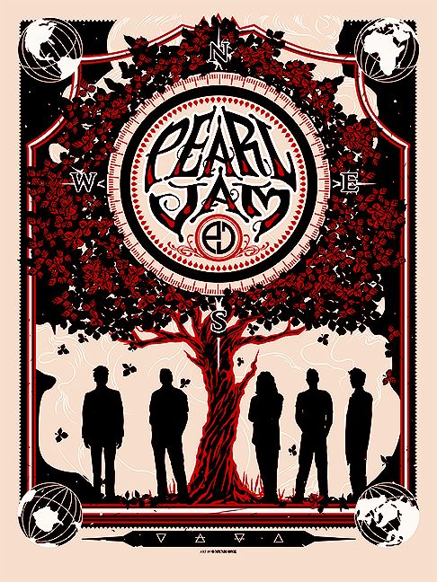 Pearl Jam poster by Munk One