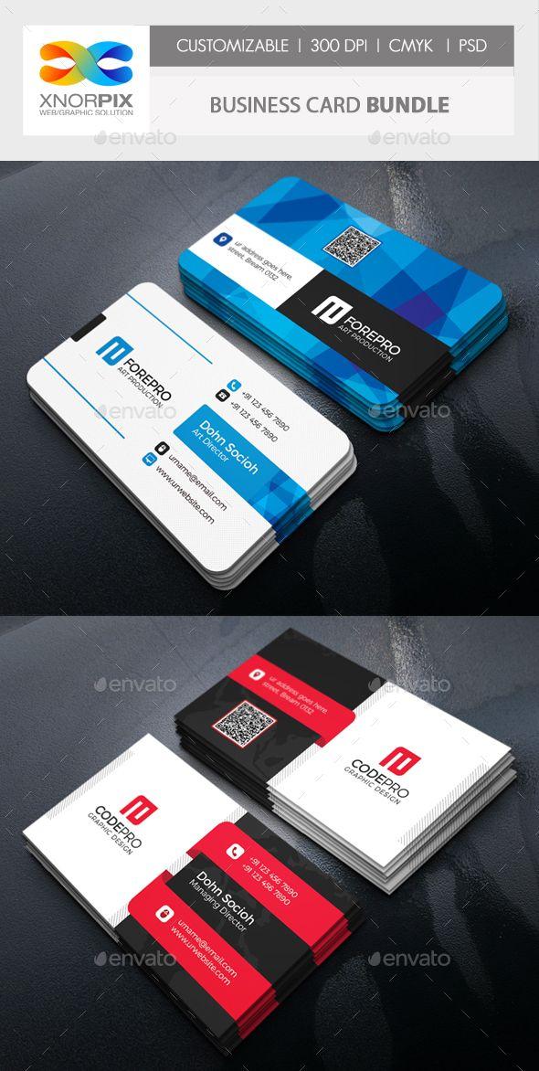 Business Card Bundle  — PSD Template #template #bundle • Download ➝ https://graphicriver.net/item/business-card-bundle/18361245?ref=pxcr