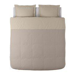 MALOU Funda nórd y 2 fundas almohada, marrón claro - marrón claro - 240x220/50x60 cm - IKEA