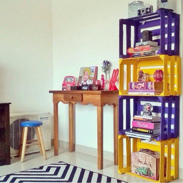 20 ideias para usar caixotes na decoração do quarto das crianças  http://instagram.com/p/u-eJQotNPc/  minha casa <3