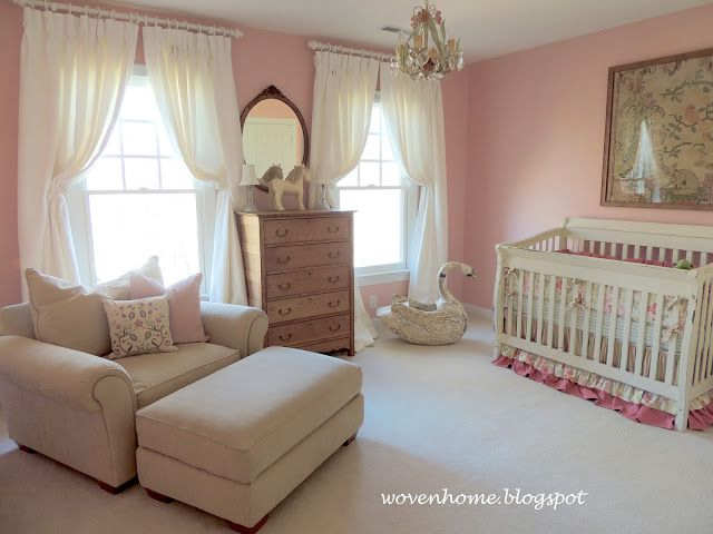 Lovely Woven Home: My Little Girlu0027s French Country Nursery