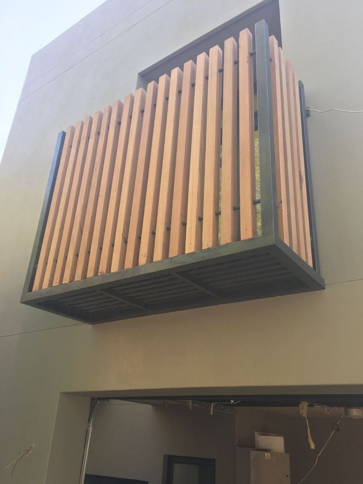 Steel and timber Juliet balcony by Havwoods