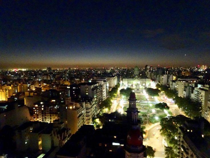 Buenos Aires by night from Palacio Barolo