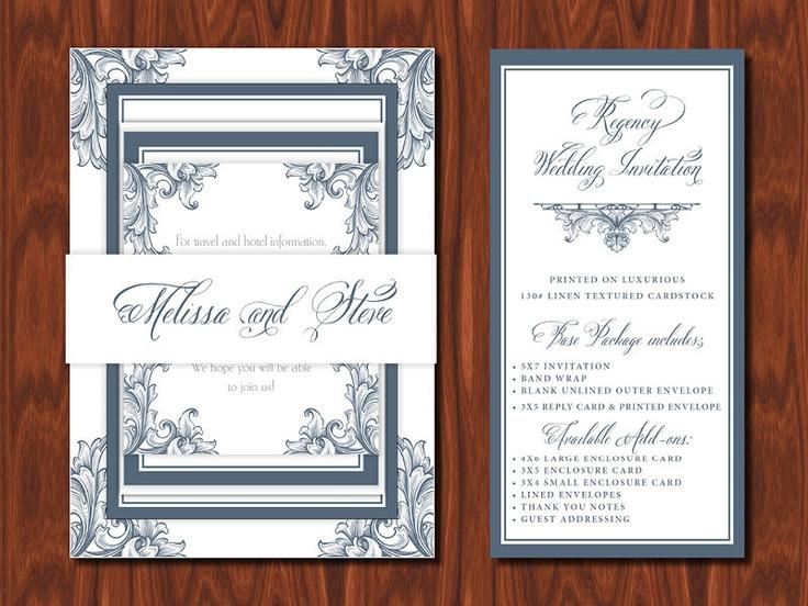 Regency Wedding Invitation   Sample Set   6 50  via Etsy 73 best Marie Antoinette Inspired Wedding images on Pinterest  . Regency Wedding Invitations. Home Design Ideas