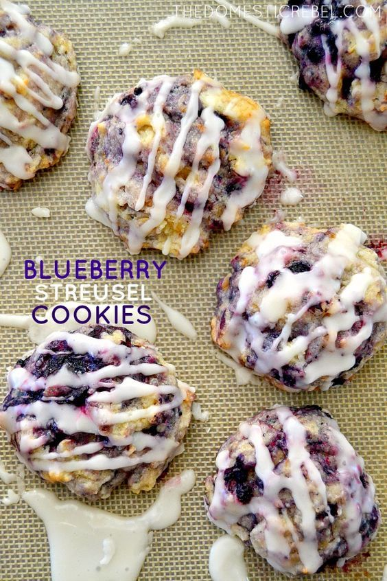Muffin Mix Blueberry Streusel Cookies | I've made these muffin cookies two times now and they are absolutely  incredible!