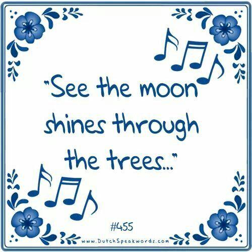 Zie de maan schijnt door de bomen (Omdat het bijna sinterklaas is)