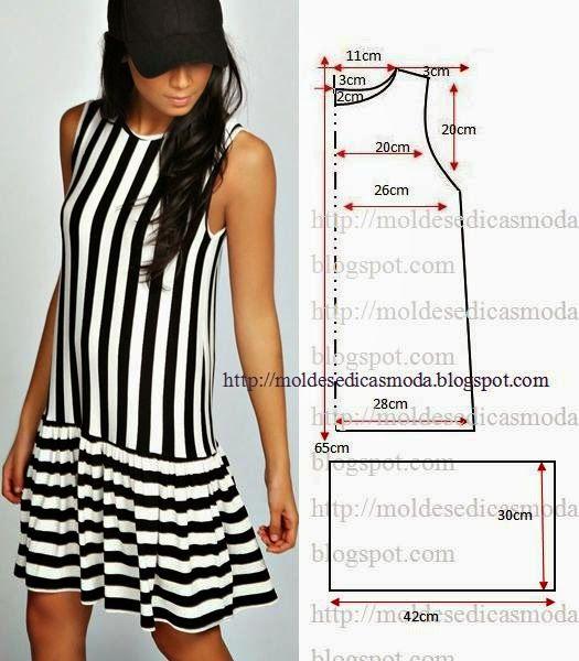 Moldes Moda por Medida: VESTIDO FÁCIL DE FAZER - 15