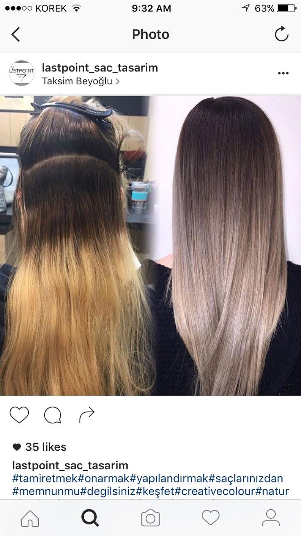 Ombre haare weg