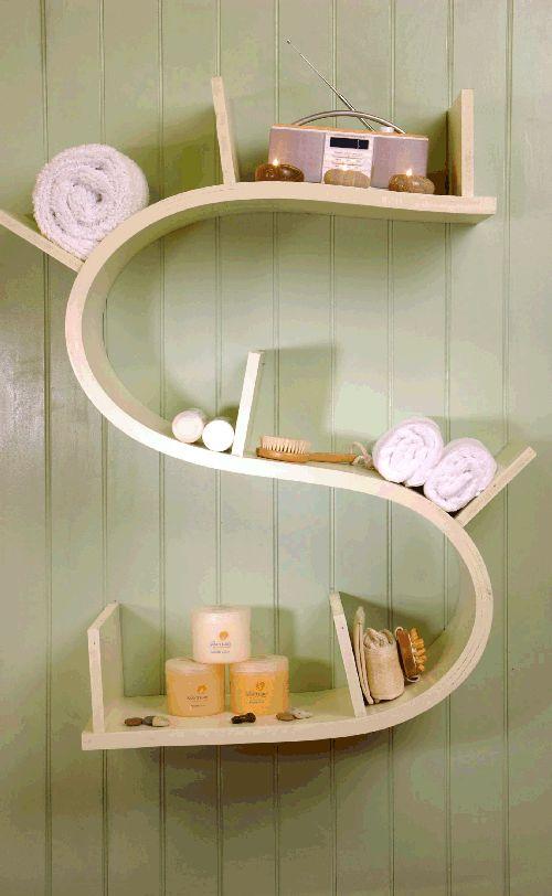 unique bathroom shelf organizer