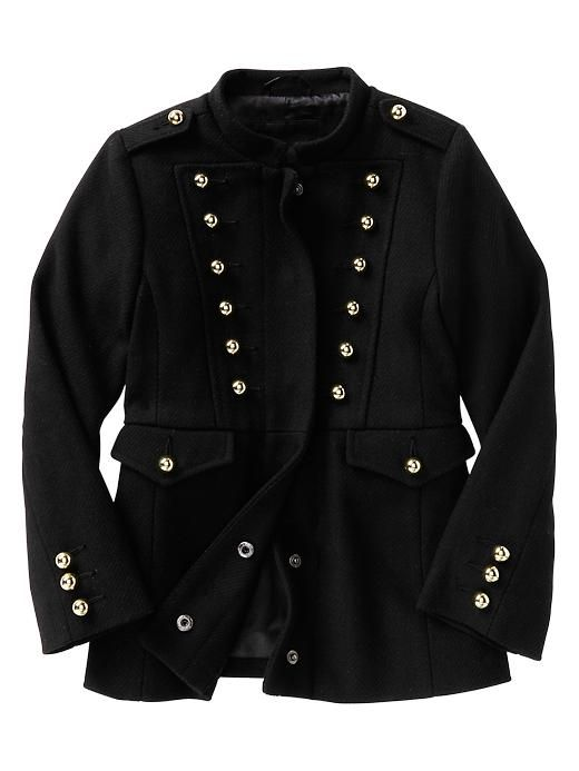 military-inspired coat for girls