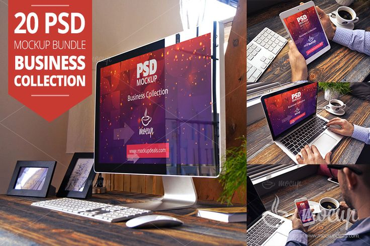 20 PSD Mockup Bundle Business by Mocup, mockupdeals.com on Creative Market