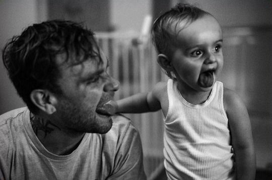 Bert McCracken and Daughter, Cleo