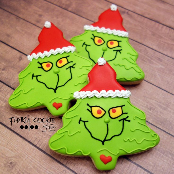 Grinch cookies by Jill FCS