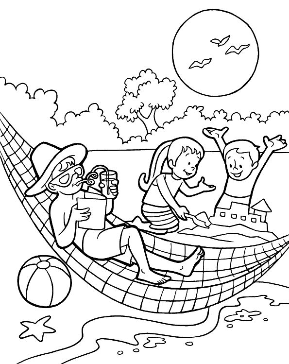 Summertime Coloring Pages Free Printables