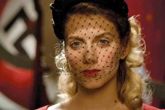 The Jewish heroine of Inglourious Basterds, portrayed by Mélanie Laurent, dons a veil before carrying out her plan to murder Hitler and his henchmen.