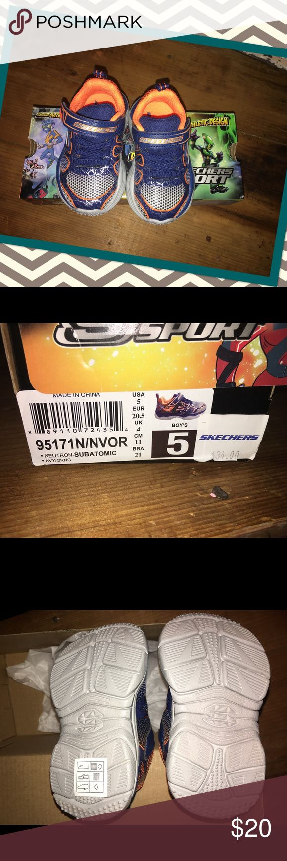 Baby boy size 5 Sketchers shoes Infant boys size 5 Sketchers tennis shoes. Brand new in box paid $34.00. Subatomic Spider-Man design. Skechers Shoes Baby & Walker