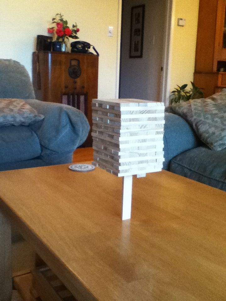 Seriously, can you balance 99 blocks on ONE!  #summer #blocks #education